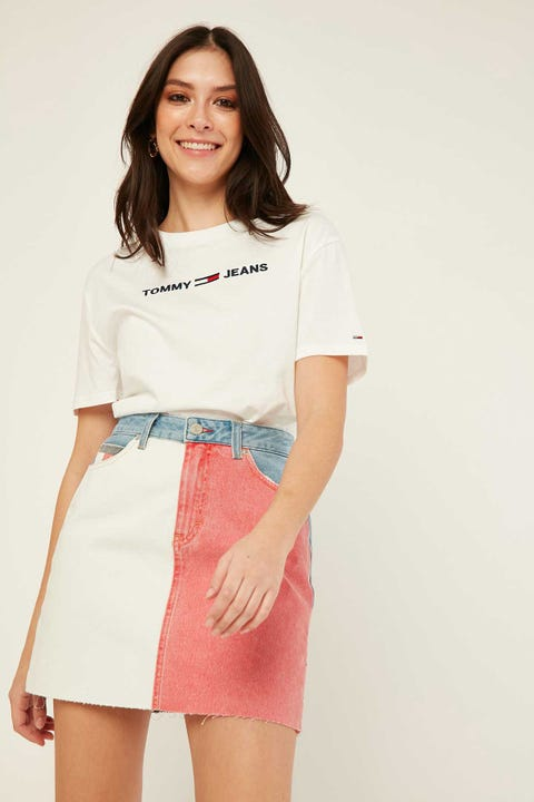 TOMMY JEANS Short Denim Skirt Tommy Flag