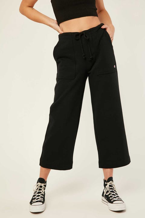 Champion Wide Leg Crop Pant Black