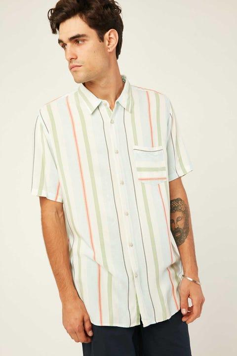 BARNEY COOLS Holiday SS Shirt Malibu Stripe