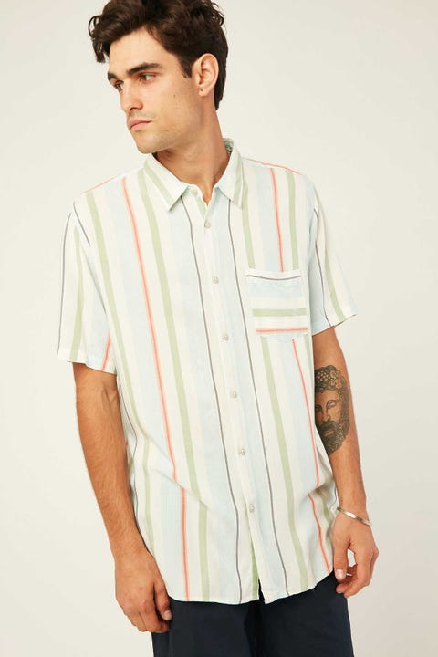 BARNEY COOLS Holiday SS Shirt Malibu Stripe