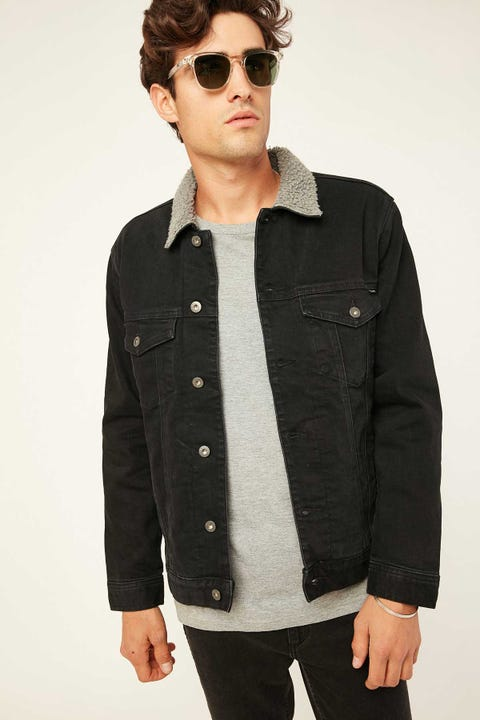 BARNEY COOLS B.Rigid Full Sherpa Jacket Black