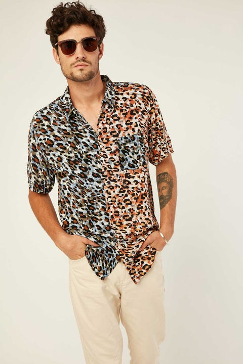 BARNEY COOLS Holiday SS Shirt Animalistic