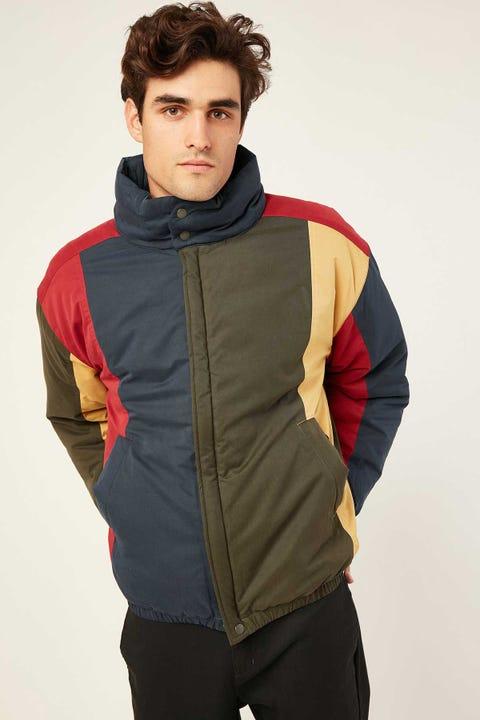 BARNEY COOLS Regal Puffer Jacket Colour Block