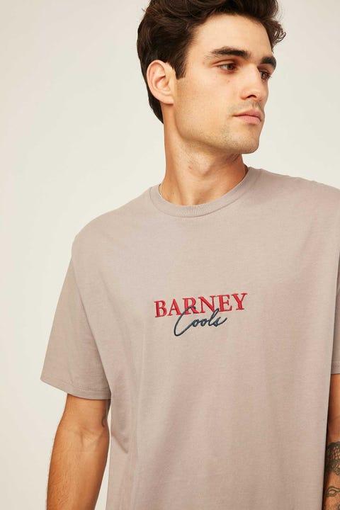 BARNEY COOLS Script Embro Tee Smoke
