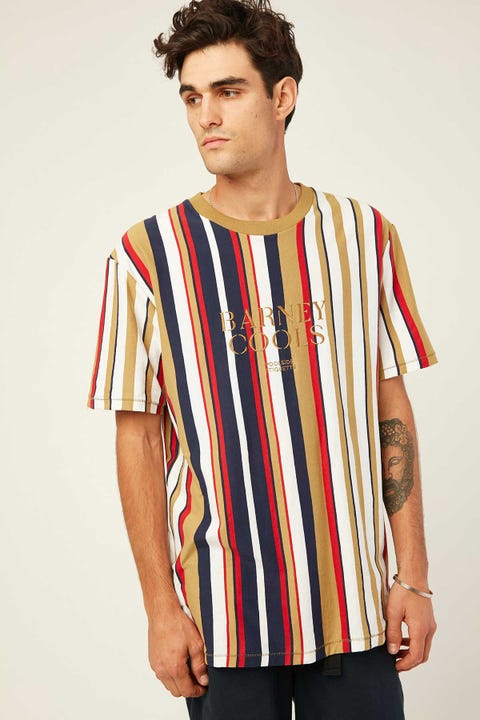 Barney Cools B.Cools Embro Tee Gold Stripe