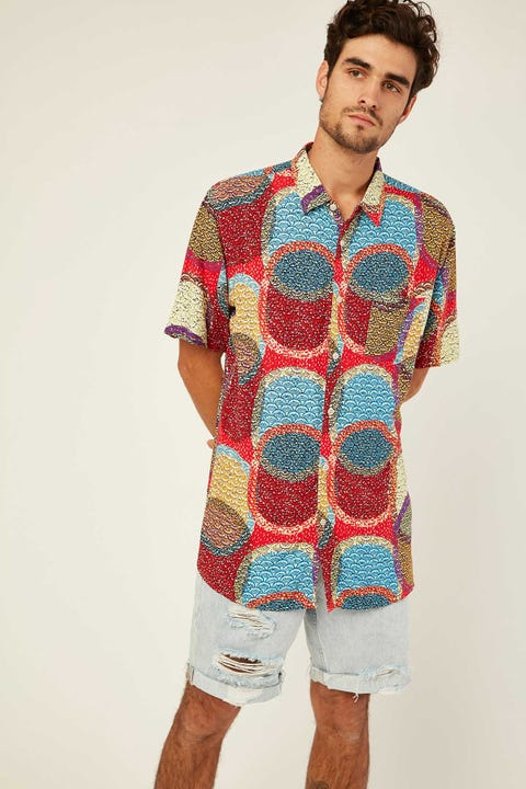 BARNEY COOLS Holiday SS Shirt Red Disco