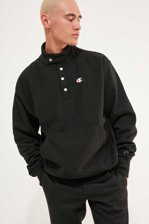 Champion Reverse Weave 1/4 Snap Pullover Black