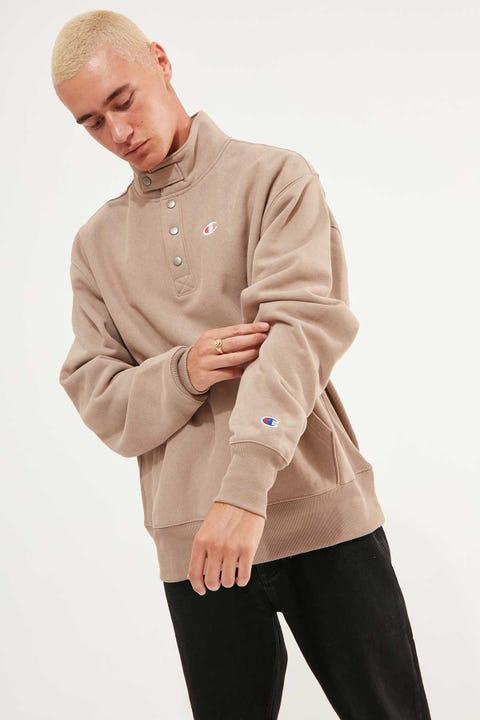 Champion Reverse Weave 1/4 Snap Pullover Dark Khaki