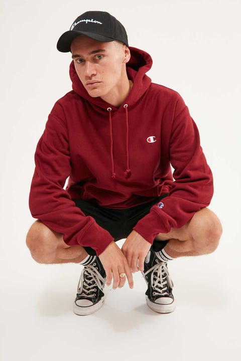 Champion Reverse Weave Hoodie Sepia Red