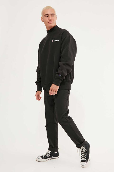 Champion Reverse Weave Mock Neck Black