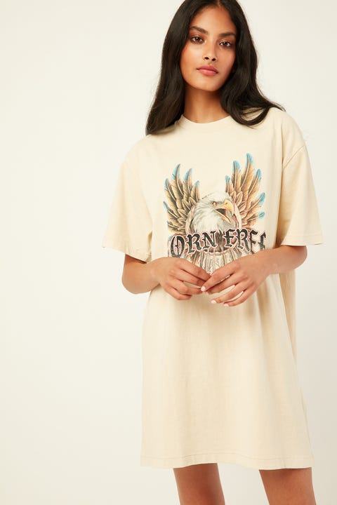 THRILLS Dream Weaver Merch Dress Thrift White