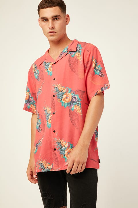 THRILLS Tito SS Bowling Shirt Red