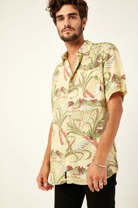 THRILLS Hell Of A Hula SS Shirt Vintage Yellow