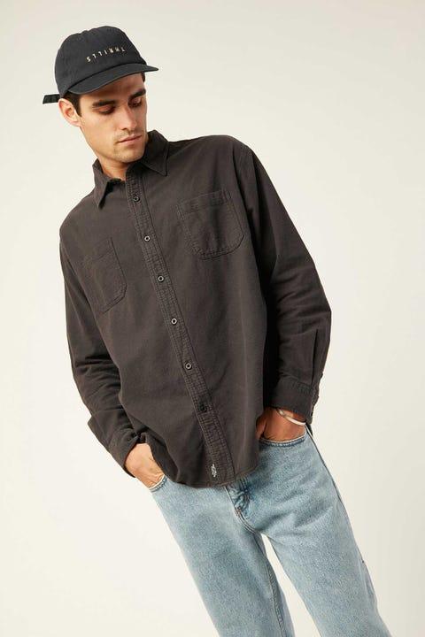 Thrills Courier LS Shirt Black