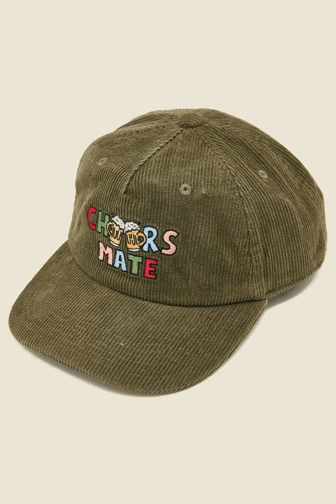 BARNEY COOLS Cheers Mate 5 Panel Olive Cord