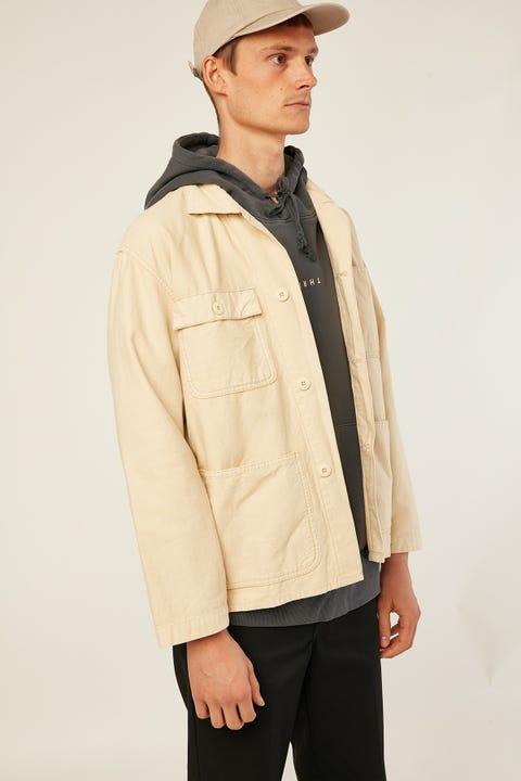 Thrills Work Shop Jacket Thrift White