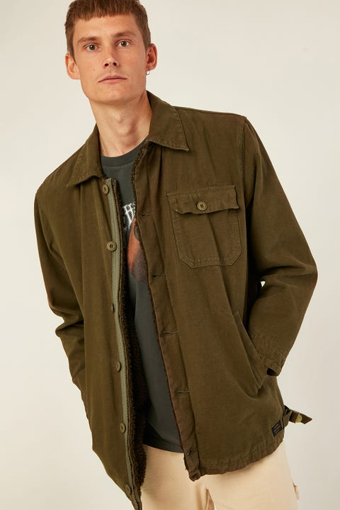 THRILLS Legion Sherpa Jacket Ivy Green