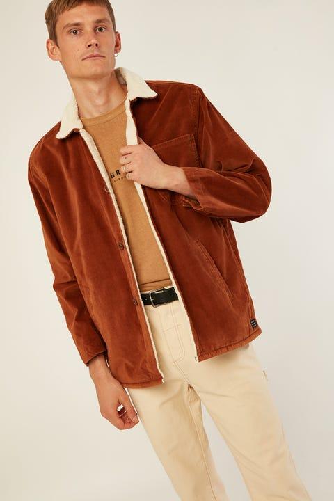 THRILLS Rose Sherpa Jacket Mustang Brown