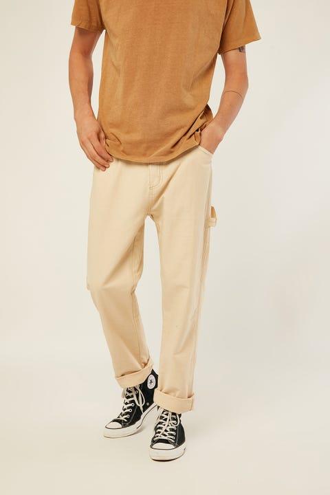Thrills Work Shop Carpenter Pant Thrift White