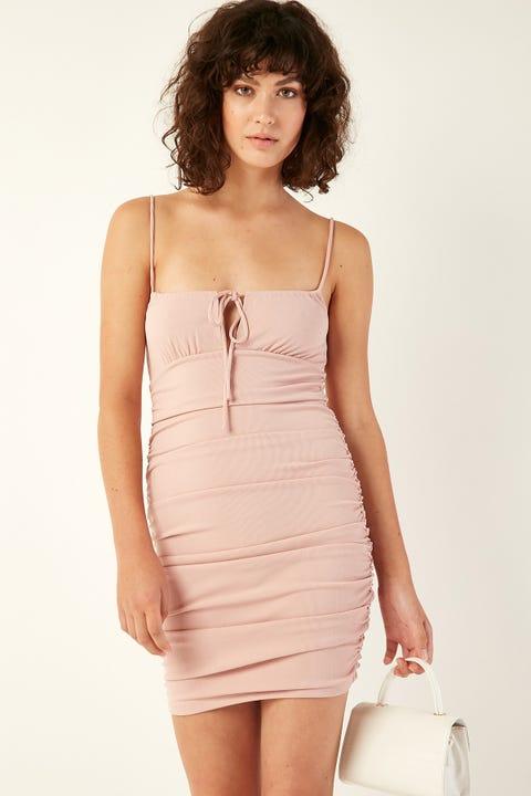 LUCK & TROUBLE Martini Mini Dress Pink