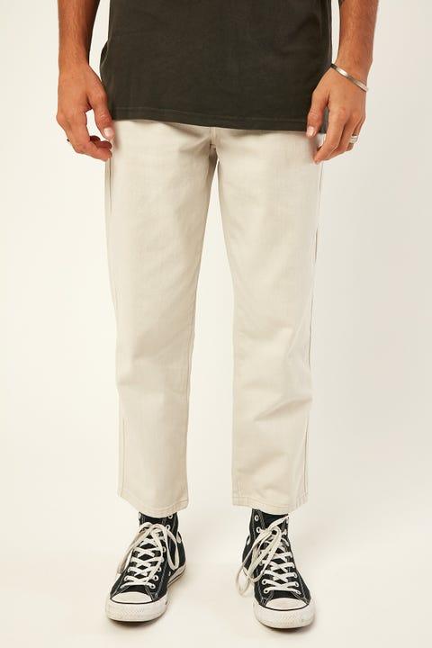 STUSSY California 5 Pocket Pant White Sand