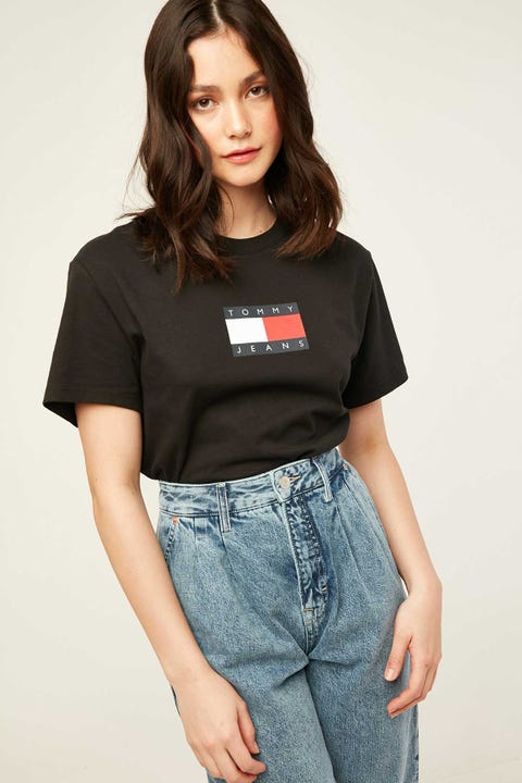 TOMMY JEANS Tommy Flag Tee Black