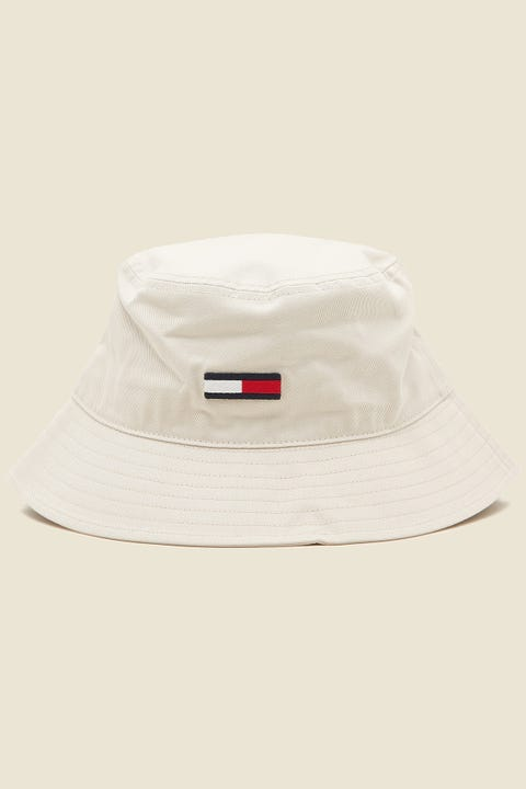 TOMMY JEANS Flag Bucket Hat Smooth Tan