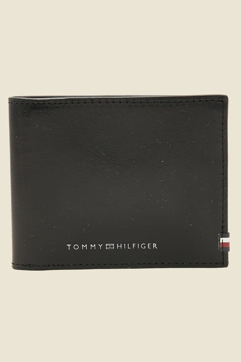 TOMMY JEANS Polished Leather Mini CC Wallet Black