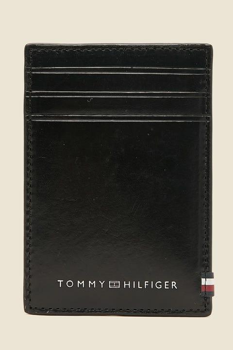 TOMMY JEANS Polished Leather Vertical CC Holder Black