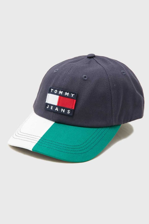 TOMMY JEANS Heritage Colourblock Cap Navy/White/Green