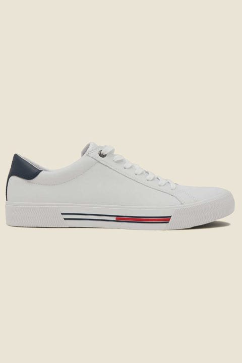 TOMMY JEANS Mens Essential Leather Sneaker White