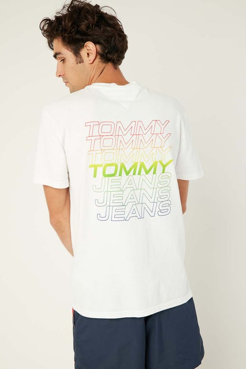 TOMMY JEANS TJM Repeat Logo Tee White