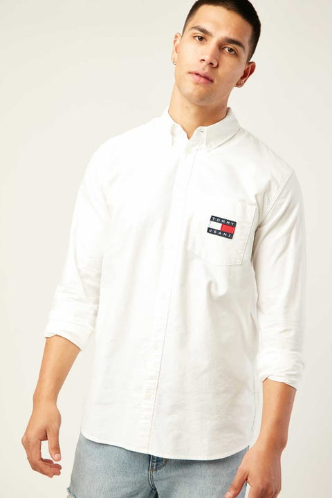 Tommy Jeans TJM Oxford Badge Shirt White