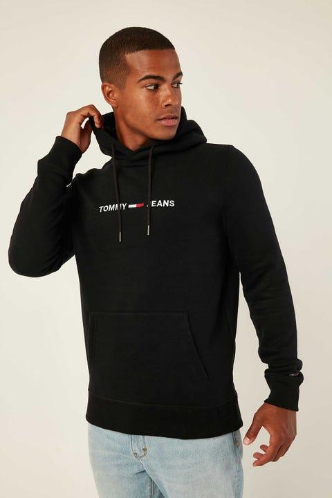 Tommy Jeans TJM Straight Logo Hoodie Black