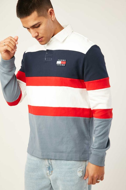 TOMMY JEANS TJM Badge Rugby Faded Ink/Multi