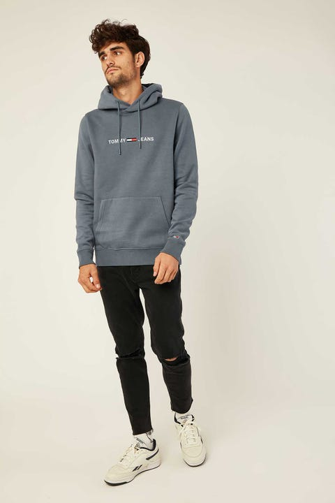 TOMMY JEANS TJM Straight Logo Hoodie Faded Ink