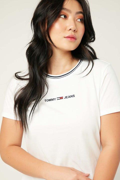 Tommy Jeans Summer Logo Ringer Tee White