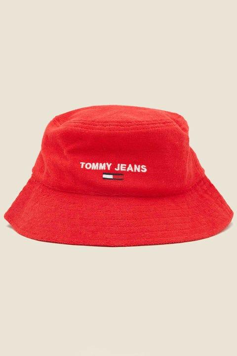 TOMMY JEANS TJW Sport Bucket Hat Deep Crimson