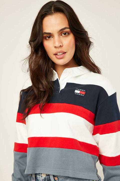 TOMMY JEANS Badge Rugby Faded Ink/Multi
