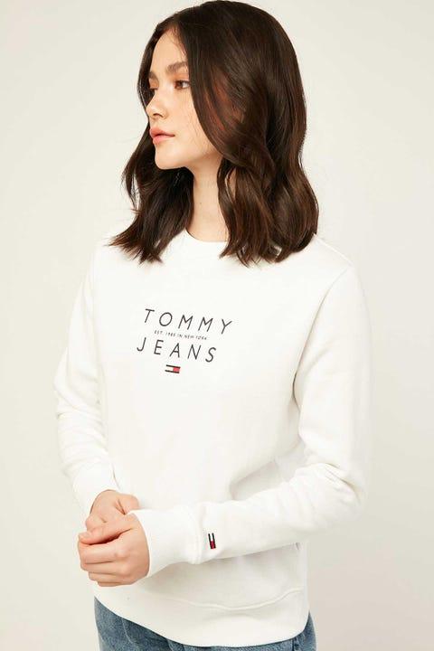 TOMMY JEANS Essential Logo Sweatshirt White
