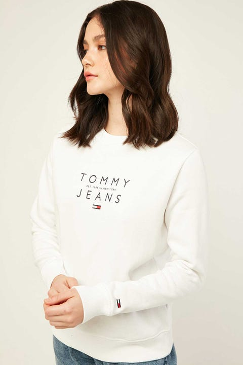 Tommy Jeans Essential Logo Sweatshirt White