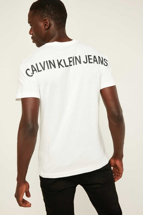 CALVIN KLEIN Back Institutional Tee Bright White