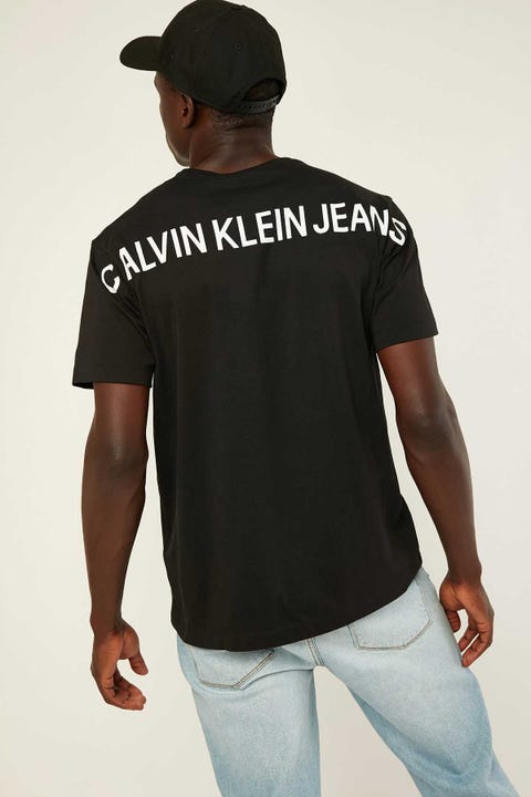 CALVIN KLEIN Back Institutional Tee CK Black