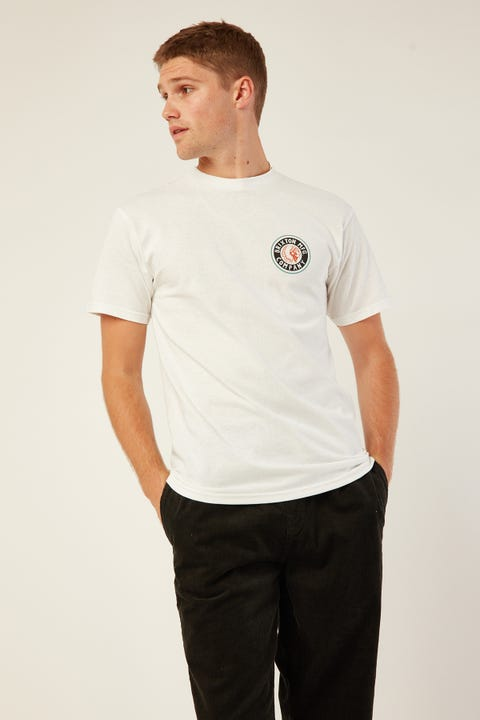 Brixton Rival II SS Tee White/Teal