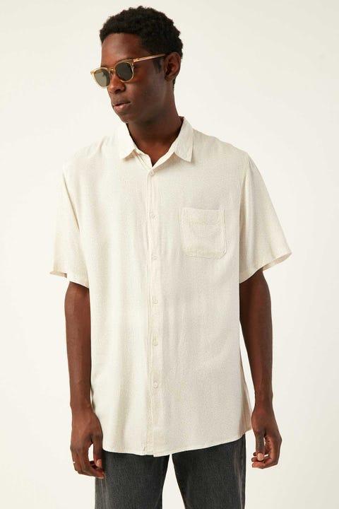 COMMON NEED Leopar-dellic Party Shirt Sand Print