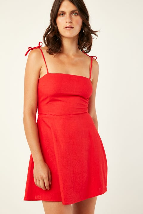 PERFECT STRANGER New Flame Dress Red