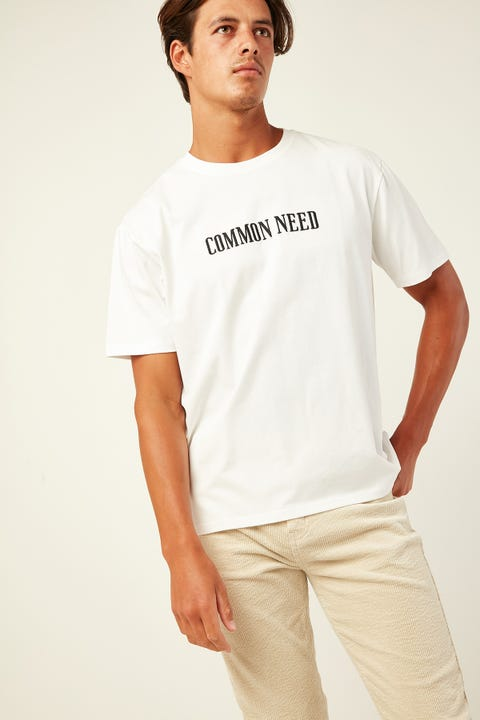 COMMON NEED Prime Tee White