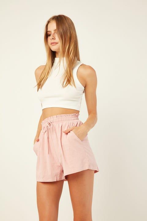 L&T Ellie Elastic Short Pink