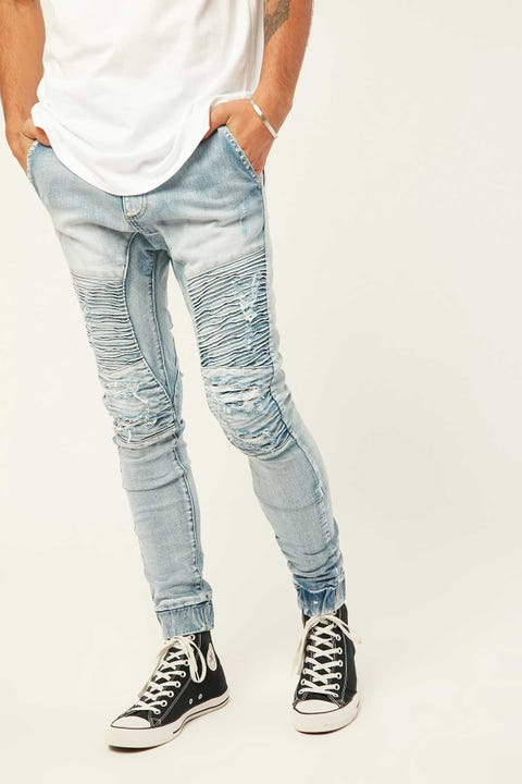 KISS CHACEY Alpha Denim Jogger Sunburnt Blue