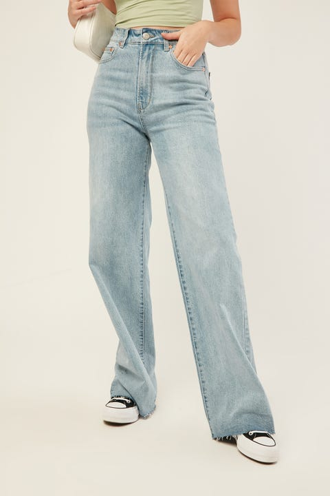 ZIGGY DENIM Hi Mum Wide Jean Forever Blue